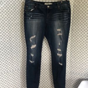 Torrid distressed skinny denim jeans